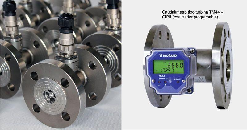 Caudalimetro_Turbina_TM44+CIPII-Tecfluid