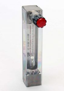 Cabalimetre-area-variable-tub-vidre-amb-valvula-serie-2000-Tecfluid